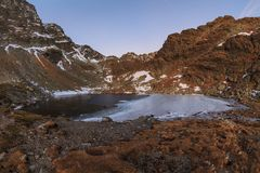 Caltun lake in Fagaras Mountains Royalty Free Stock Photos