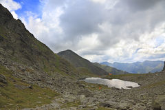 Caltun Lake in Fagaras Mountains ,Romania Royalty Free Stock Photography