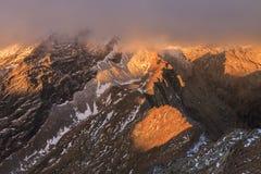 Caltun lake in Fagaras Mountains Royalty Free Stock Photography