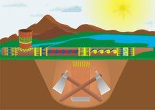 Calumet vector illustratie
