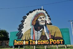 Indian Trading Post on Calumet, Oklahoma. Royalty Free Stock Image