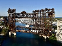 Calumet River Lift Bridge Stock Photo