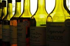 Calvados-Flaschen lizenzfreies stockfoto