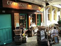 Calvados sklep w Honfleur, Francja Fotografia Royalty Free