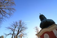 Calvaire dans Banska Stiavnica, automne Image libre de droits