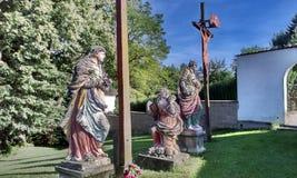 Calvaire en Bohême du sud Image stock