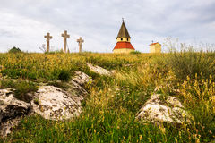 Calvaire, Nitra, Slovaquie Photo libre de droits