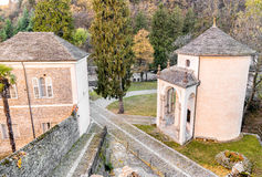 Calvaire sacré de bâti de Domodossola, Italie Photo stock