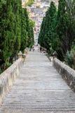 Calvari steps, Pollenca Royalty Free Stock Photos