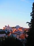 Calvario Church in early morning sunshine Stock Photos