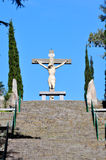 Calvario in Tandil. View of the a Jesus Statue in the Calvario of Tandil City in Buenos Aires, Argentina Royalty Free Stock Images