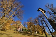 Calvary σε Banska Stiavnica, φθινόπωρο στοκ φωτογραφίες με δικαίωμα ελεύθερης χρήσης