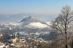 calvary χειμώνας stiavnica banska Στοκ Φωτογραφία