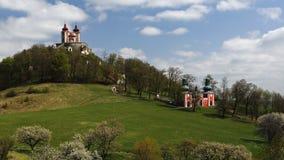 Calvary of Banska Stiavnica, Slovakia royalty free stock photos