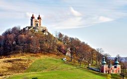 Calvary in Banska Stiavnica, Slovakia royalty free stock photography