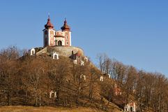 Calvary in Banska Stiavnica, upper Church Stock Photo