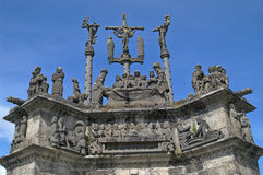 Calvary in Brittany, France Stock Photos