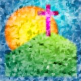 Calvary brush art Stock Images