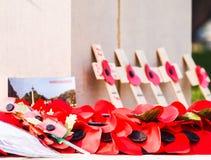 Calvary cemetery in memories. Chung Kai Allied War Cemetery Memorial. Kanchanaburi.Thailand. Stock Image