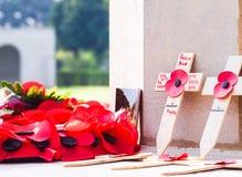 Calvary cemetery in memories.Chung Kai Allied War Cemetery Memorial. Kanchanaburi.Thailand. Royalty Free Stock Photos
