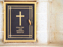 Calvary cemetery in memories.Chung Kai Allied War Cemetery Memorial. Kanchanaburi.Thailand. Royalty Free Stock Photography