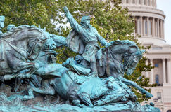 Calvary Charge US Grant Statue Civil War Memorial Capitol Hill W. Calvary Charge Ulysses US Grant Equestrian Statue Civil War Memorial Capitol Hill Washington DC Stock Image