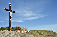 Calvary of Collioure in France Stock Photography