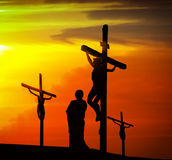 Calvary crucifixion Royalty Free Stock Photography