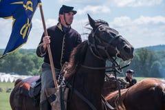 Calvary de la unión en Gettysburg Imagen de archivo