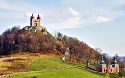 Calvary en Banska Stiavnica, Eslovaquia Fotografía de archivo libre de regalías
