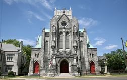 Calvary Episcopa Church, Memphis TN. Calvary Episcopal Church, located at 102 North Second Street at Adams Avenue, in Memphis, Tennessee, in the United States Royalty Free Stock Photo