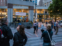 Calvary Fellowship band plays in Westlake Park, Seattle Royalty Free Stock Images