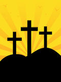 Calvary Hill Sunrise vector illustration