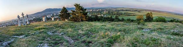 Calvary i Nitra, Slovakien, panorama- foto Arkivfoto