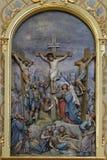 Calvary, Jesus dies on the Cross. Church of Saint Matthew in Stitar, Croatia Stock Images