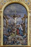 Calvary, Jesus dies on the Cross. Church of Saint Matthew in Stitar, Croatia Royalty Free Stock Photography