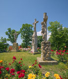 Calvary monument near the Benedictine Tihany Abbey in Hungary Stock Image