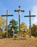 Calvary in Moosbach, Bavaria, Germany Stock Photography