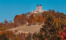 Calvary na restauratie in Banska Stiavnica - Slowakije royalty-vrije stock foto