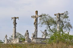 Calvary near the town of Retz Royalty Free Stock Photos