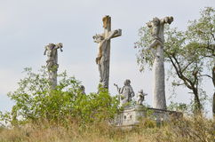 Calvary near the town of Retz Stock Photography