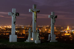 Calvary in Nitra Stock Photo