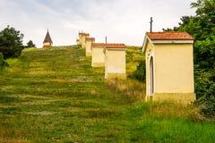 Calvary Nitra, Slovakien Fotografering för Bildbyråer