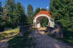 Calvary in Polen stock foto's