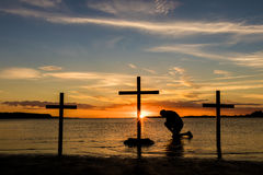 Calvary Prayer Stock Photography