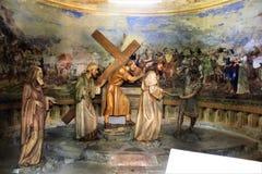 Calvary sagrado del soporte de Domodossola Foto de archivo