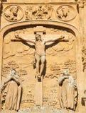 Calvary Scene - bas relief at the Convento de San Esteban, Salam Royalty Free Stock Image