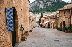Calvary Stairs in Pollensa, Mallorca. Stock Images