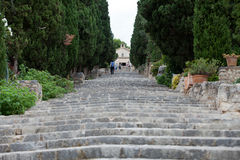 Calvary Steps at Pollensa, Mallorca Royalty Free Stock Photo
