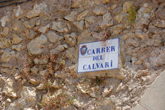 Calvary street sign Stock Photography